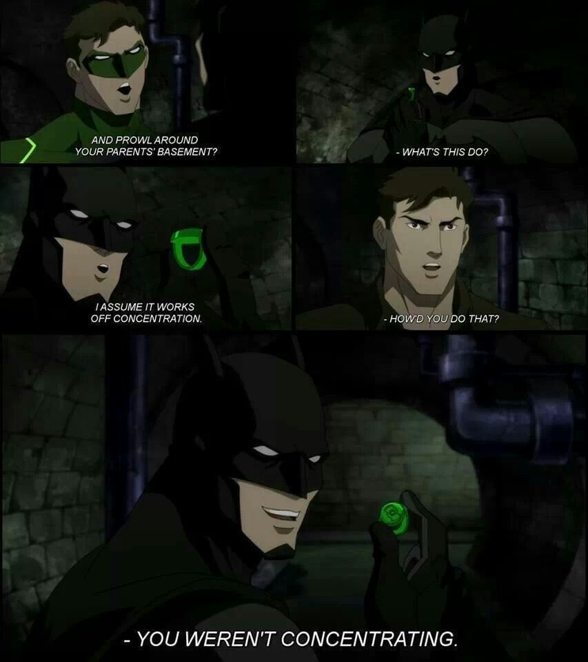 Justice League: WAR - Green Lantern and Batman