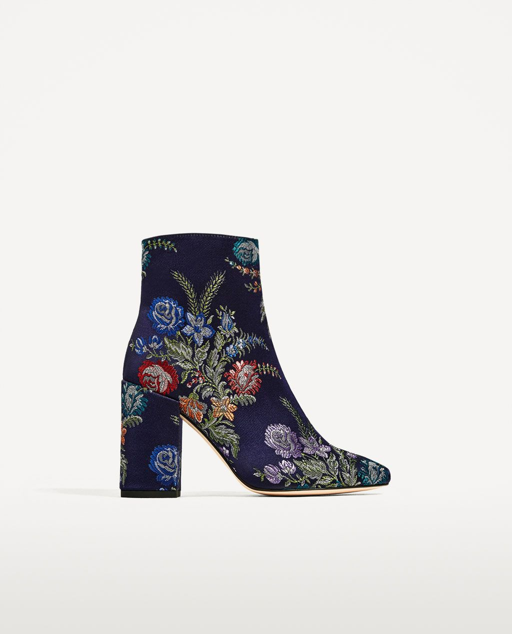 db91bc82e62 Image 2 of EMBROIDERED DETAIL ANKLE BOOTS from Zara