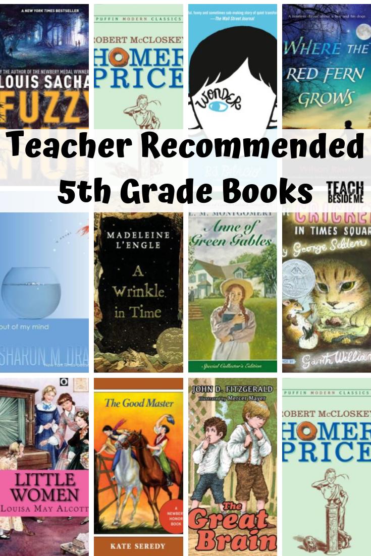 Teacher Recommended 5th Grade Books 5th Grade Books 4th Grade Books Grade Book