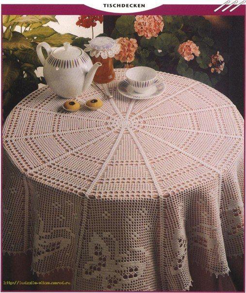 Delicadezas en crochet Gabriela: 20 Maravillosos modelos de manteles ...