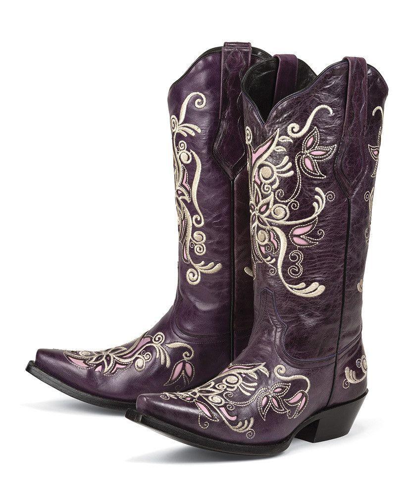 Costilla (Purple) Black Star Boot Company | Star boots