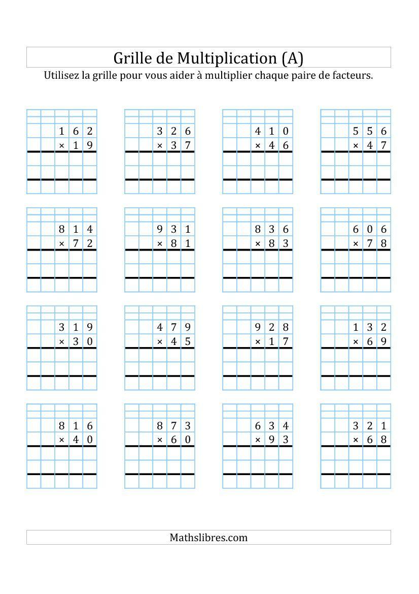 Multiplication de Nombres à 3 Chiffres par des Nombres à 2 Chiffres ...
