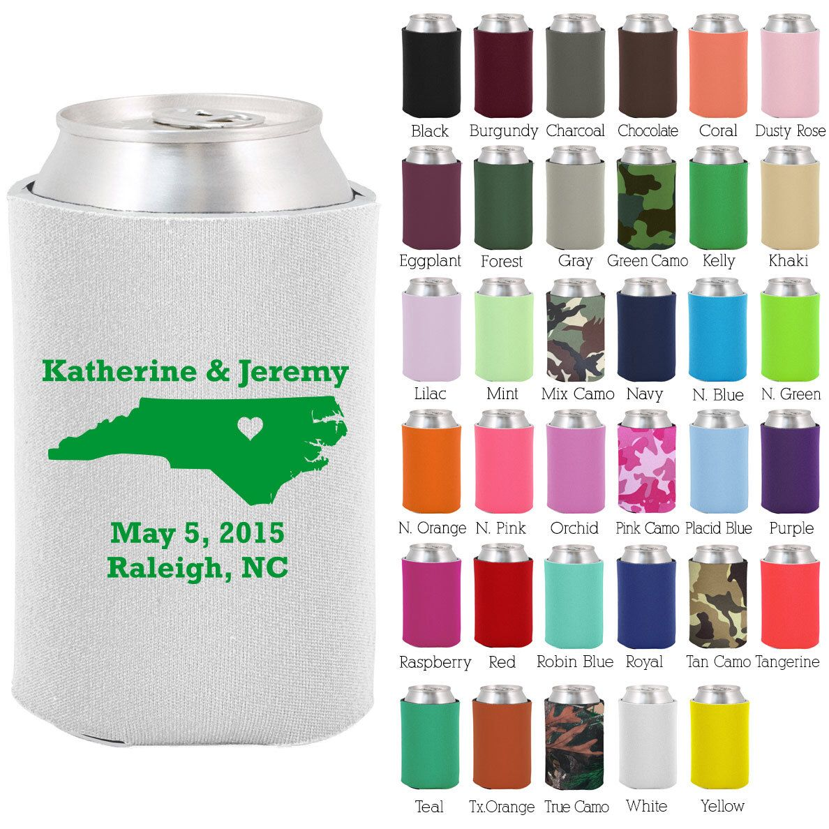 Wedding Koozies State (Clipart 1068) North Carolina - State Koozie ...
