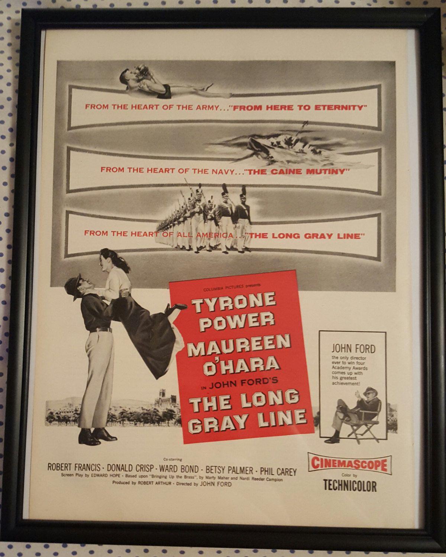 The long gray line Maureen O/'Hara vintage movie poster