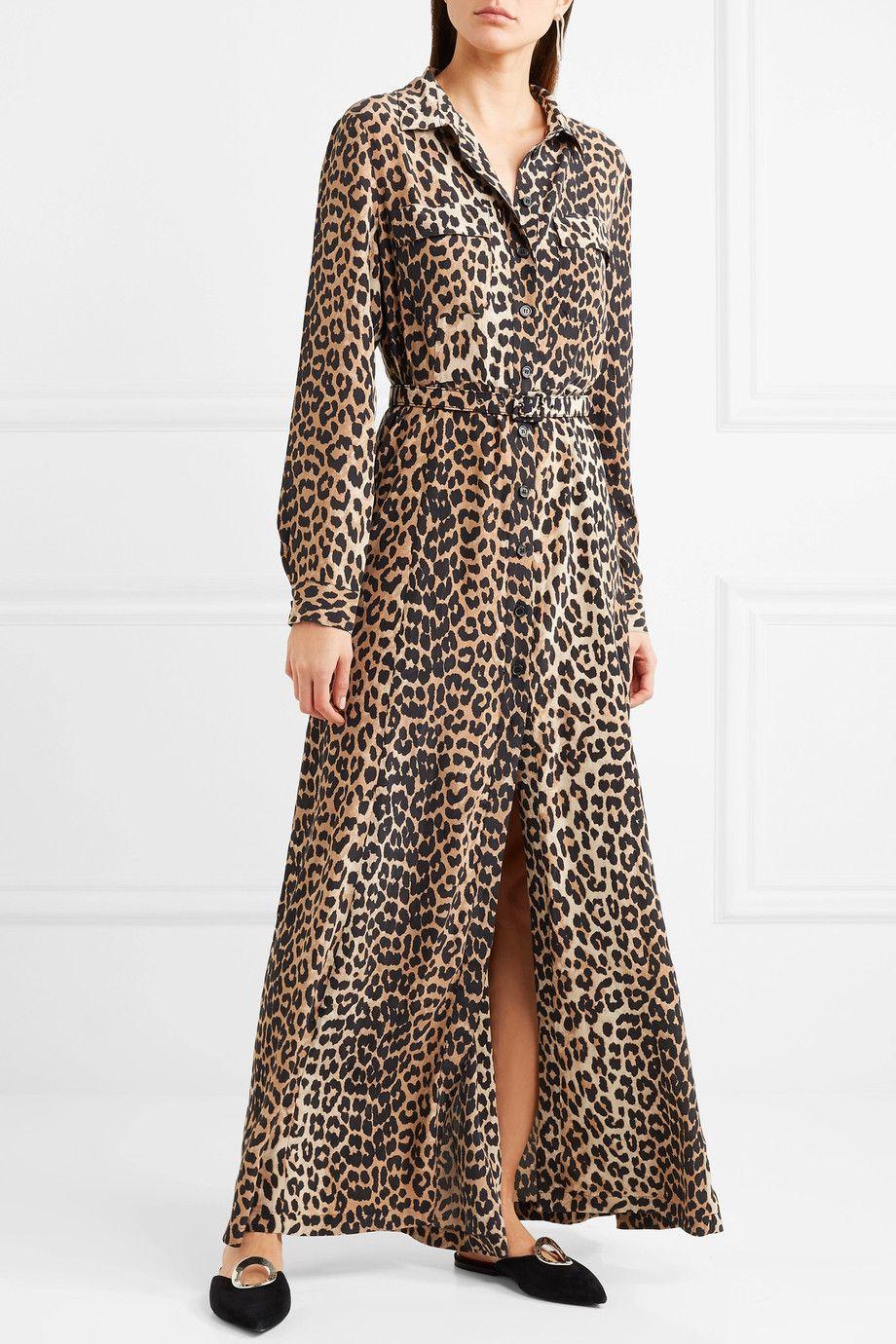 caf00e01 Ganni leopard kjole