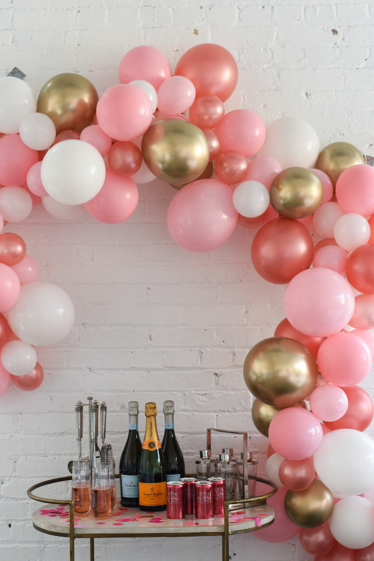 About To Pop Baby Shower Rose Gold Balloons Gold And Pink