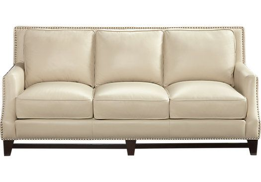Shop For A Sofia Vergara Bal Harbour Beige Leather Sofa At Rooms To Go. Find