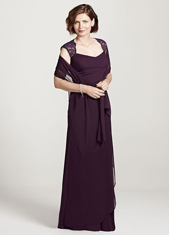 Cap Sleeve Long Jersey Dress with Lace Detail Style XS2195         you will look like a knock out in this luxurious jersey dress  Cap  sleeve bodice and open back create an eye catching and on trend look  Lace  detail