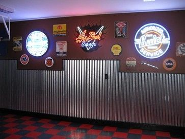 Garage And Shed Photos Man Cave Design, Pictures, Remodel, Decor and Ideas - page 6 #Unfinishedbasementmancave #mancavebasement
