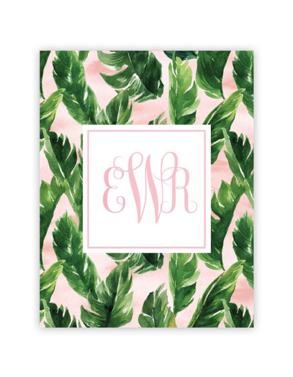 watercolor palm leaf monogram free printable monograms pinterest