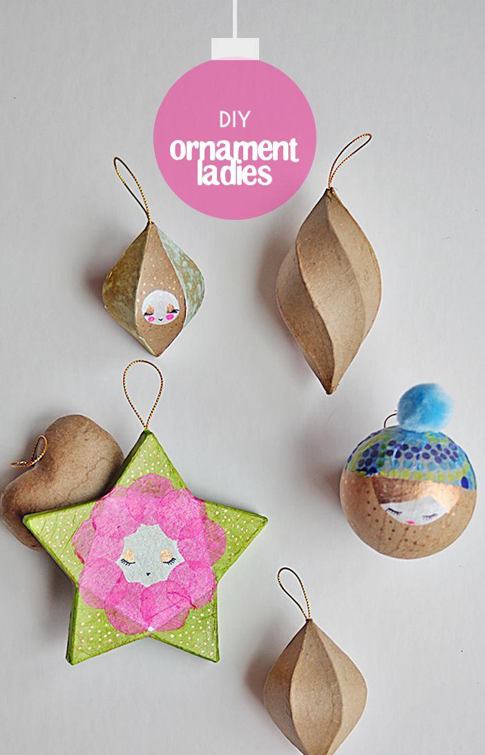 DIY ornament ladies for your tree | Diy christmas ...
