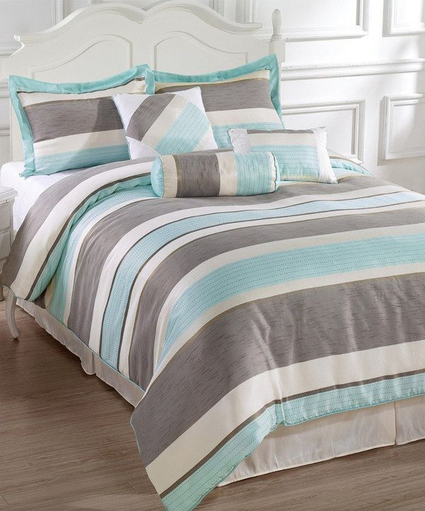 Look At This Blue Gray Bachelor Comforter Set On Zulily Today Tejidos