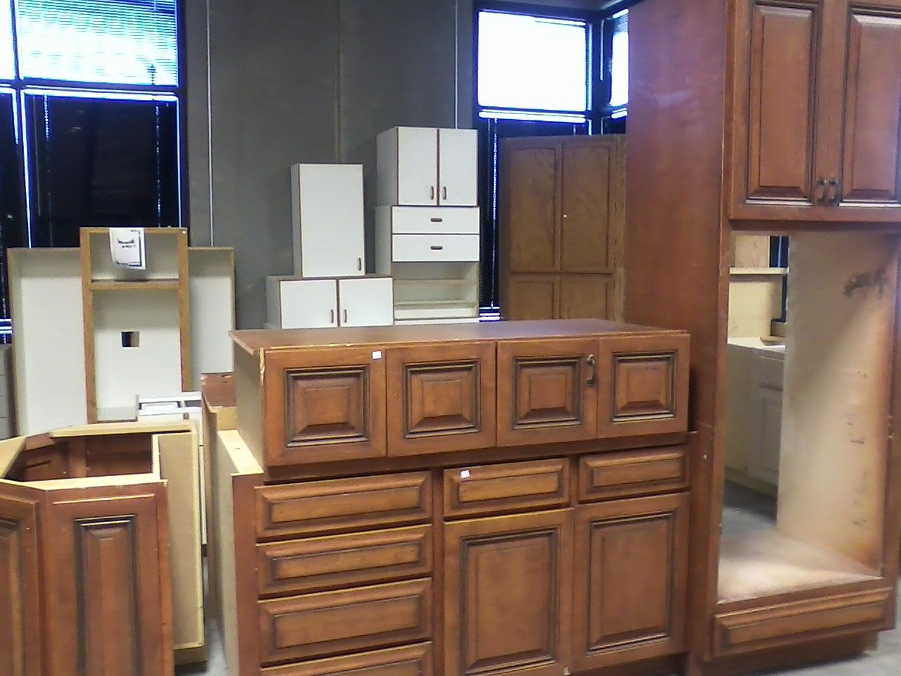 Cabinets - Sometimes we will receive donations of full ...