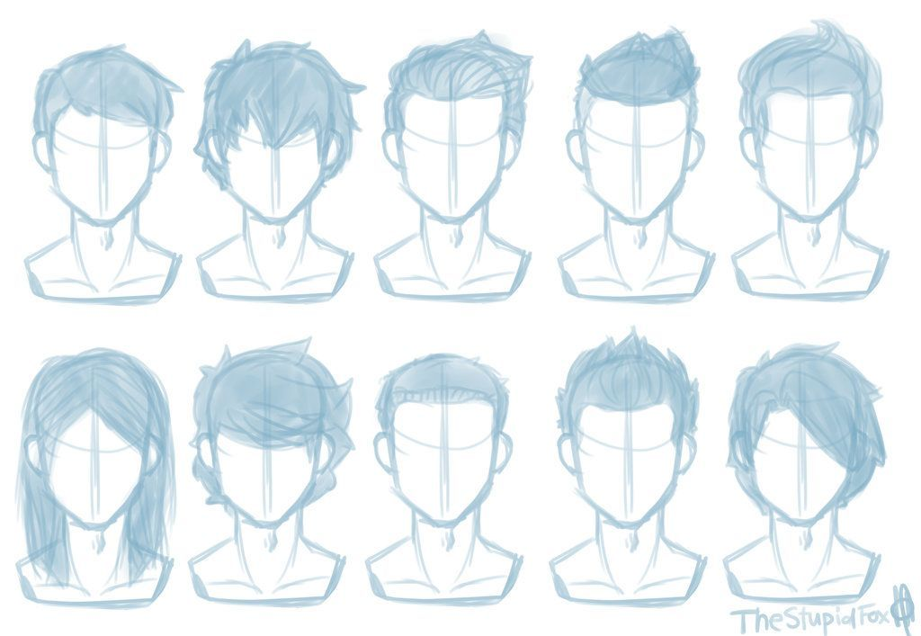 Random Hairstyles Male By Thestupidfox Deviantart Com On Deviantart Boy Hair Drawing Drawing Male Hair How To Draw Hair