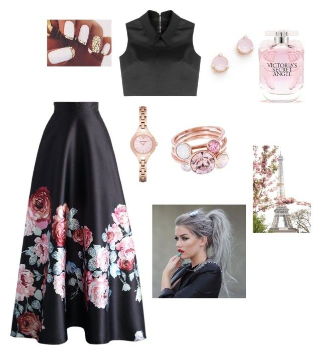 """""""Cherry Blossom"""" by fashionpolice-123 on Polyvore featuring Chicwish, McQ by Alexander McQueen, Kate Spade, Emporio Armani, Victoria's Secret, Aime and Ted Baker"""