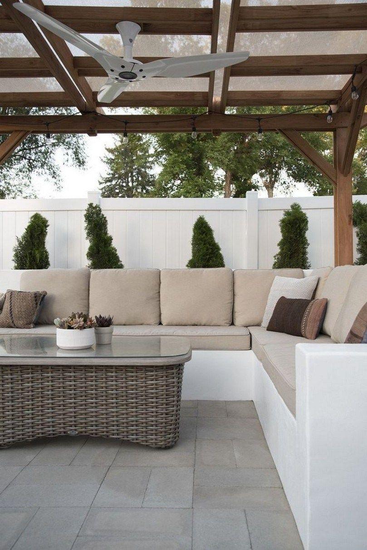 Divano In Muratura Per Esterno ✓ 57 beautiful small backyard landscaping ideas 27
