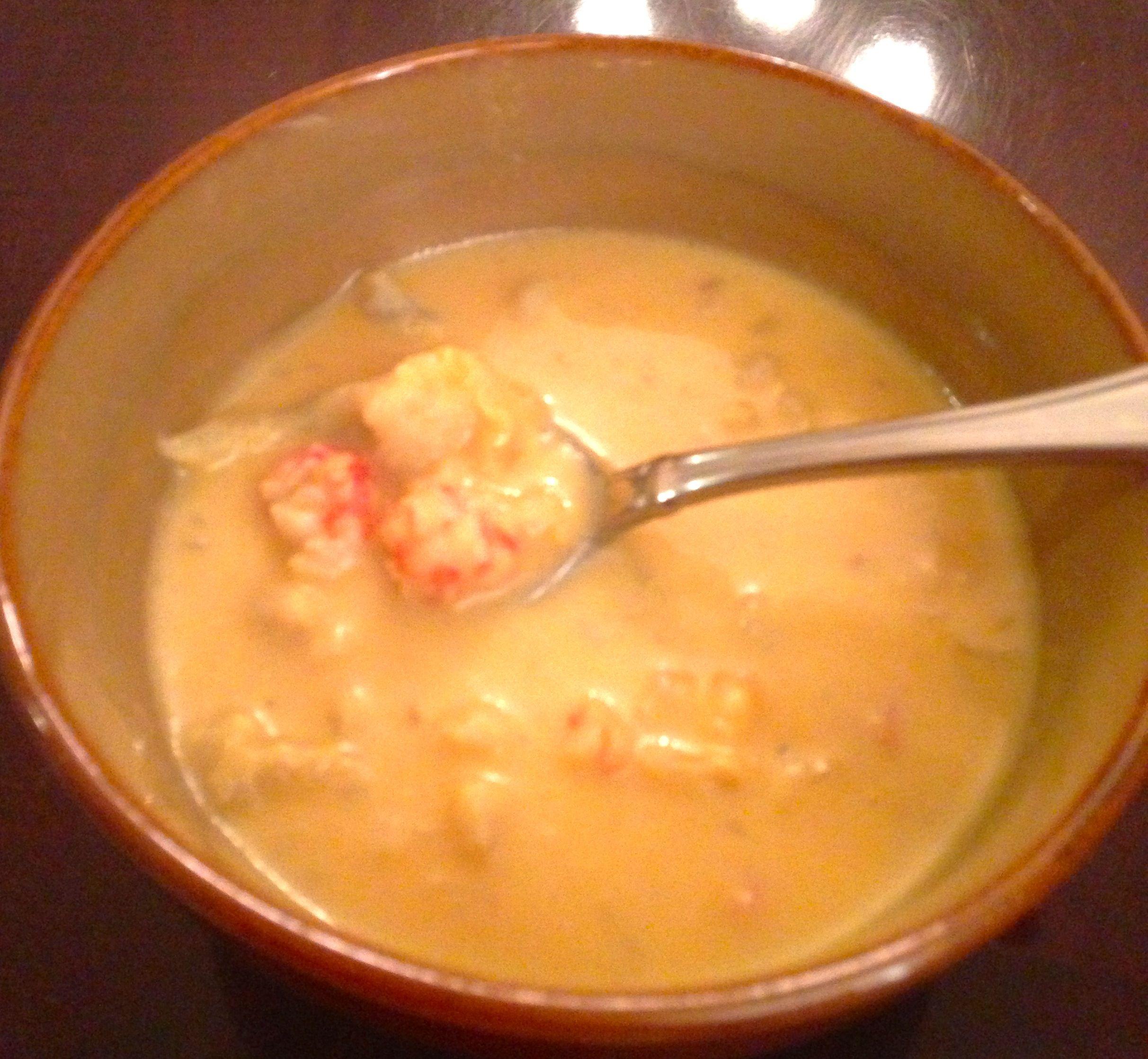 PostOp Full liquids Creamy Shrimp Bisque Pureed food