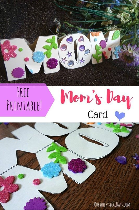 Free printable Mom card - perfect for Mother's Day or a ...