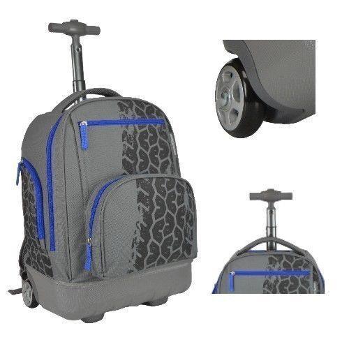 BUY Boys School Backpack Rolling Book Bag Wheeled Roller Carry