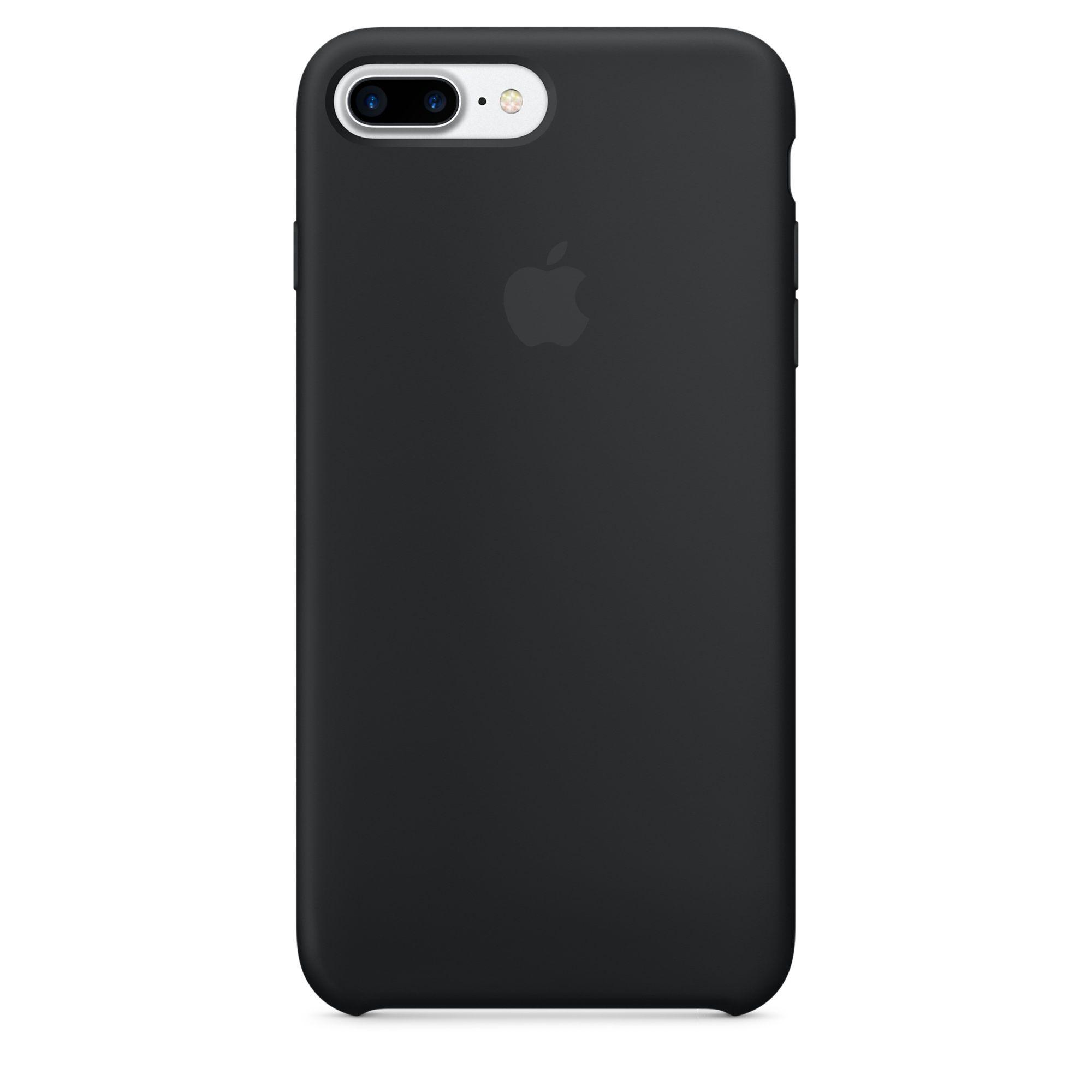 Apple Iphone 8 Plus 7 Plus Silikon Case Schwarz In 2020 Iphone Ledertasche Iphone 8 Plus Apple Iphone