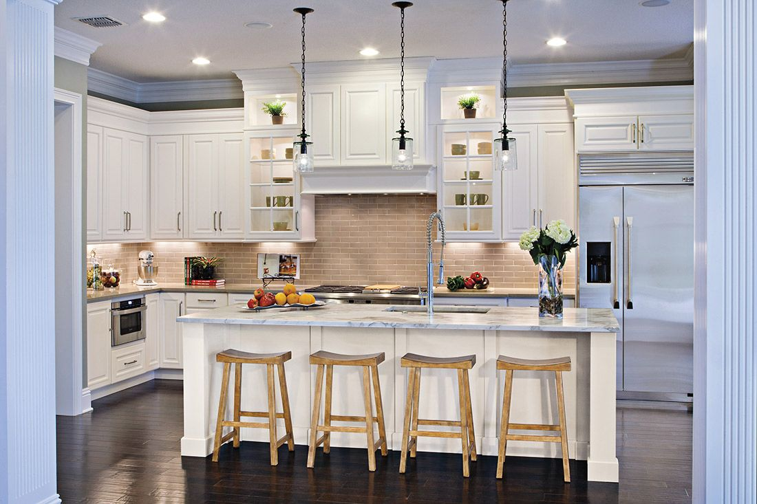 Demo Day To Design Day Get Your Kitchen Reno Fix Here White Kitchen Chairs Contemporary Kitchen Contemporary Kitchen Island