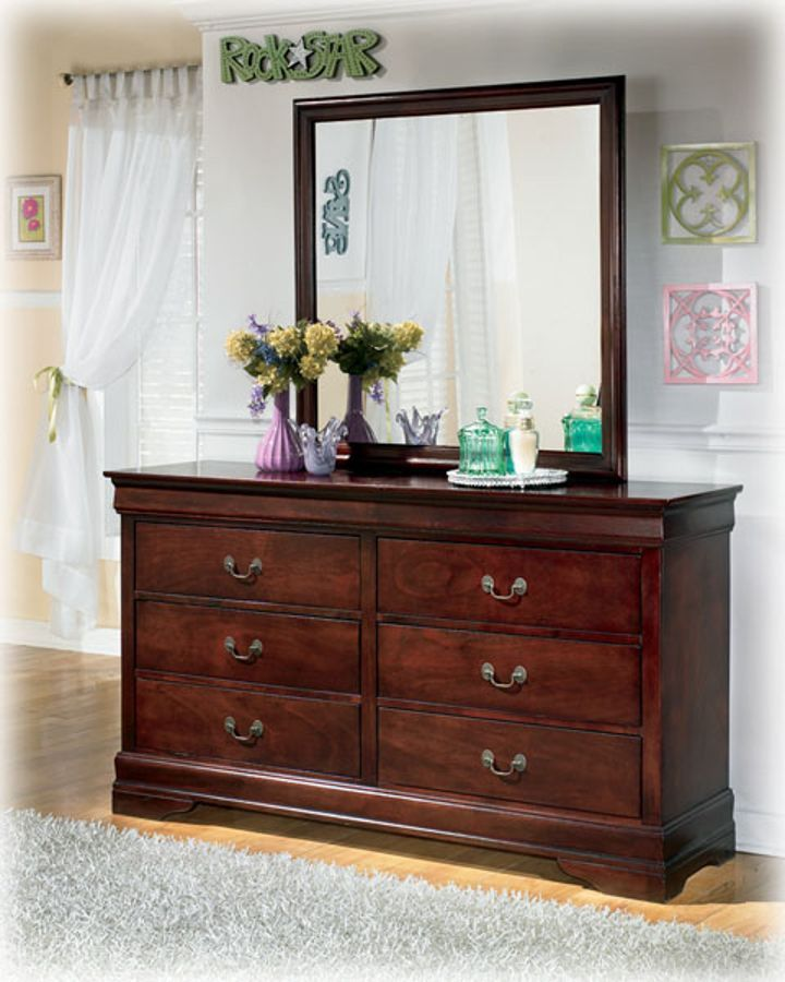 mirror traditional brown two dresser with dressers furniture and bedroom piece dark paneled ash in