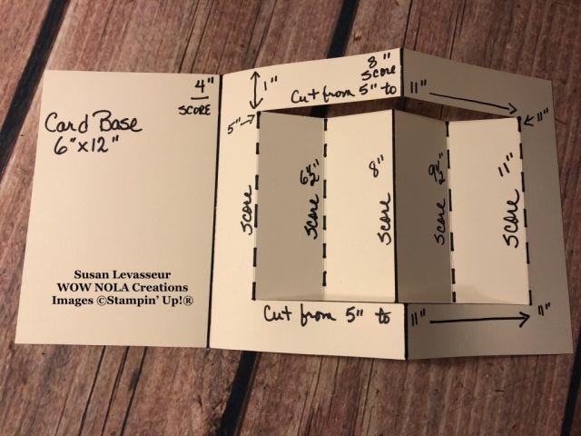Christmastime Is Here Fold Fold Crea Algo Hermoso In 2020 Fancy Fold Card Tutorials Fancy Fold Cards Step Cards