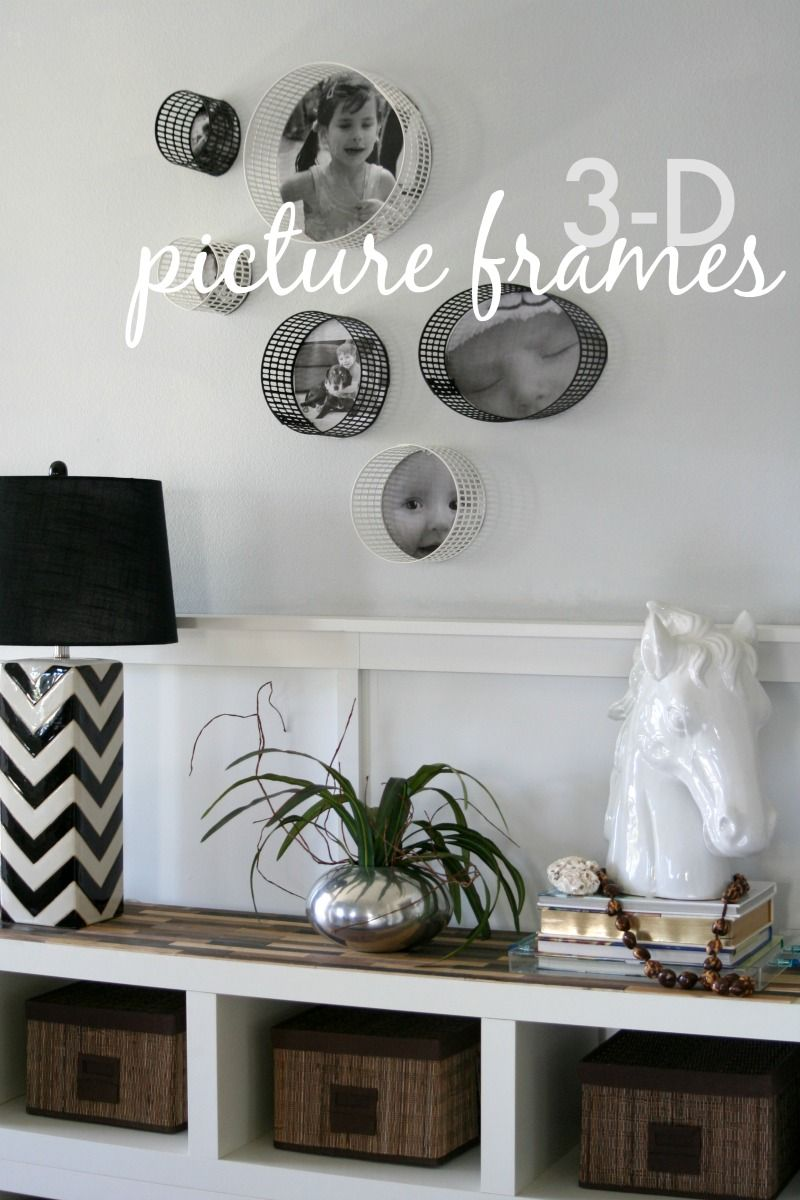 tutorial: how to make 3-D picture frames | DIY Home Decor | Pinterest