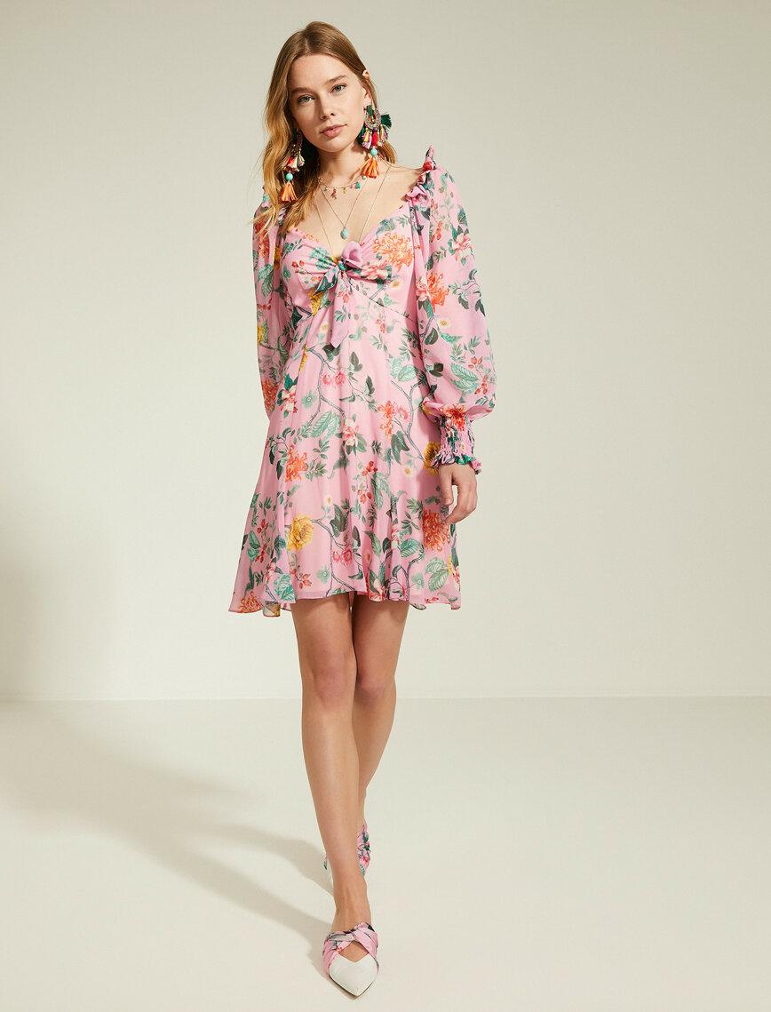 Mor Bayan Zeynep Tosun For Koton Elbise 9yak84113zwpd9 Koton Elbise Moda Stilleri Mini Elbise