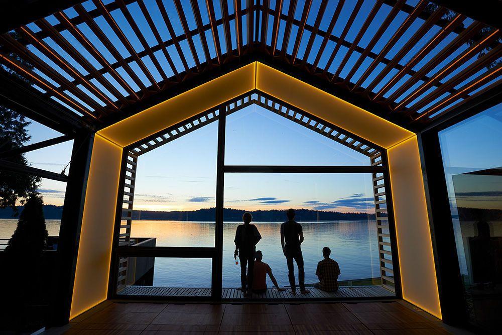 Individuelles Haus   modern   Holz   Metall - GARAGE - graypants - Haus Modern