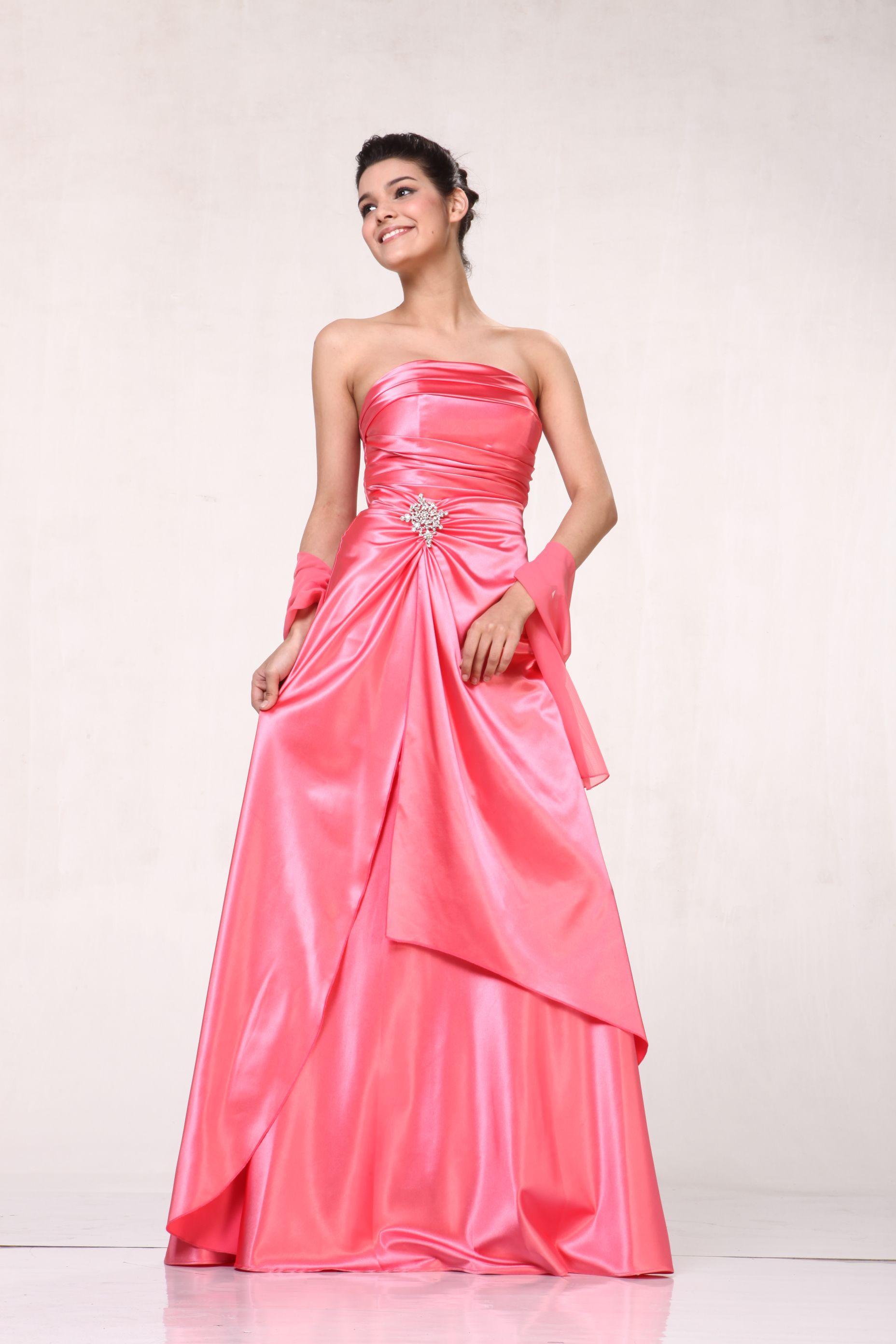 bf1c7786a09 Coral Satin Bridesmaid Dresses - Gomes Weine AG