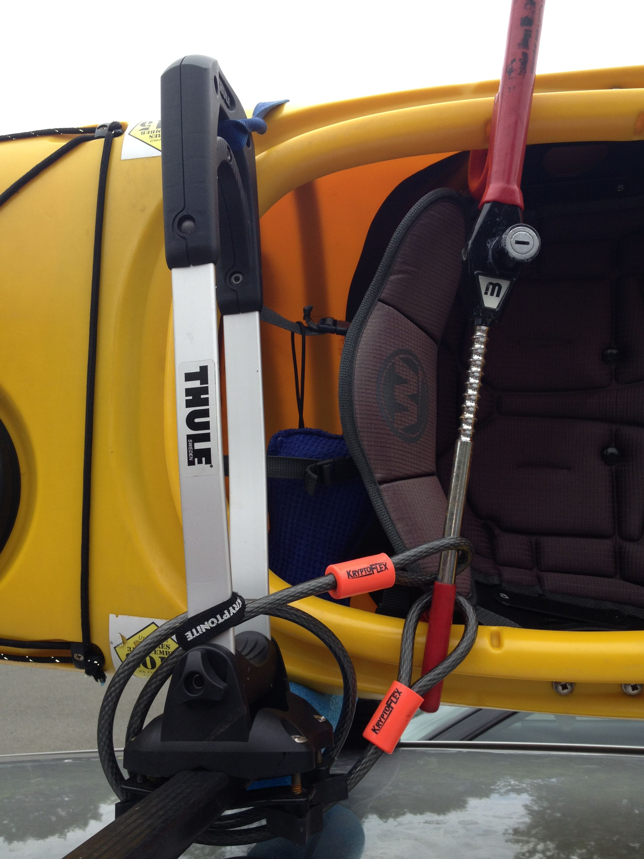 The Club And Kryptoflex Lock Your Boat To Your Roof Rack Or A Tree Canoe And Kayak Kayaking Kayak Boats