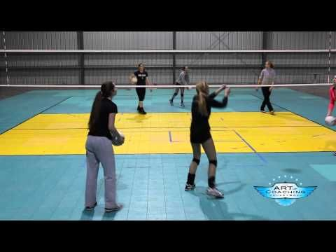 Don T Drop The Baby Is A Great Drill For Training Court Vision And Communication With Teammates Orego Volleyball Drills Youth Volleyball Coaching Volleyball