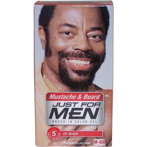 Just for Men Brush-In Color Gel for Mustache, Beard & Sideburns, Jet ...