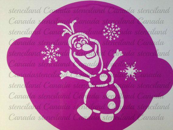 disney frozen olaf cake stencil topper cake decorating