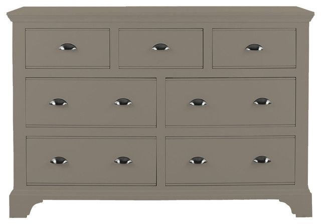 Downton 4 3 Chest Of Drawers   Downton Bedroom Furniture Chest 4 3 Drawers  In Urban Grey Paint