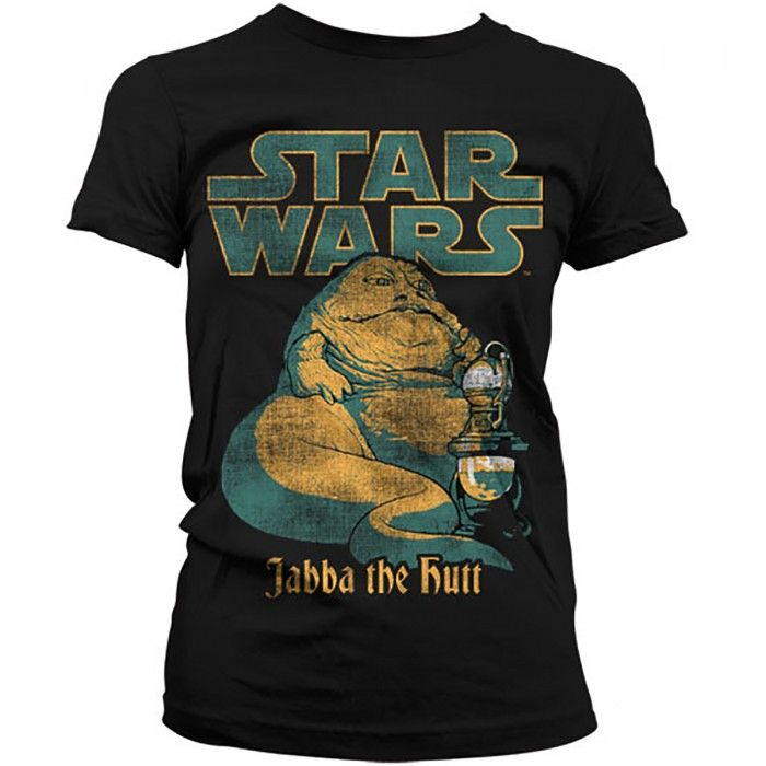 Star Wars Womens T Shirt - Vintage Jabba The Hutt