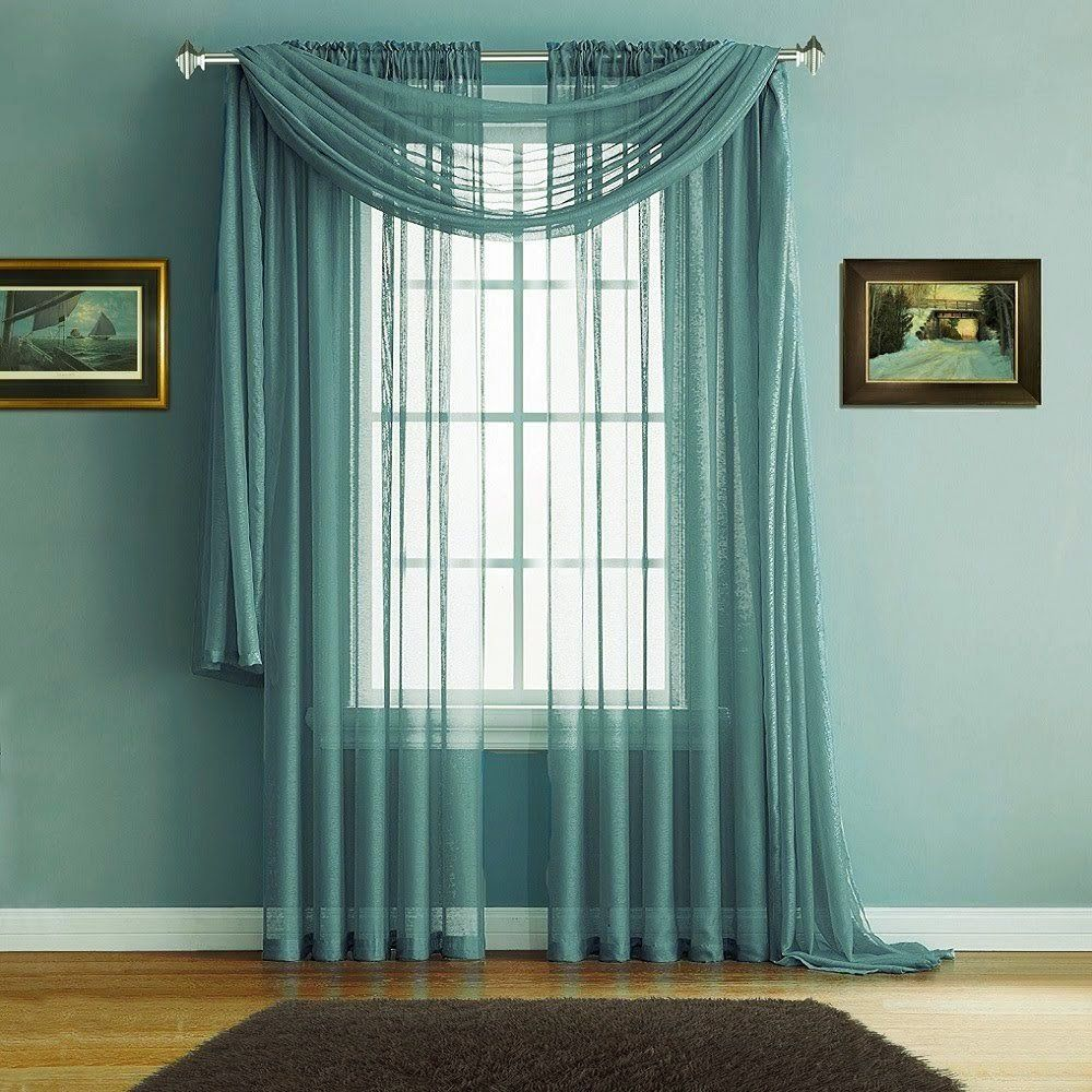 Warm Home Designs Pair Of Premium Quality 54 X 72 Inch Sheer Sea