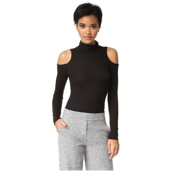 cebab32a80629 Lanston Cold Shoulder Turtleneck Top (645 CNY) ❤ liked on Polyvore  featuring tops