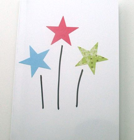 Mixed Media Sparklers Card
