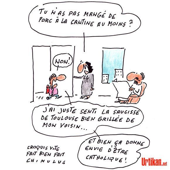 """Résultat de recherche d'images pour """"image humoristique de suppression du porc dans les cantines"""""""