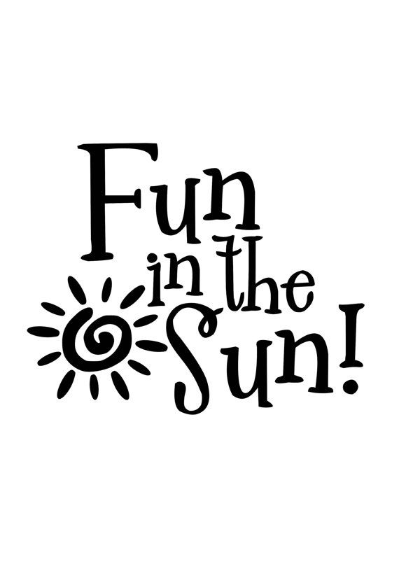 Fun In The Sun Summer Beach Vinyl Decals By Scrapshackmetal
