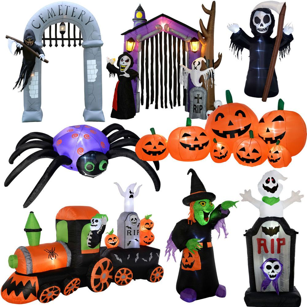 Large Prelit Inflateble Halloween Decoration Ghost Vampire