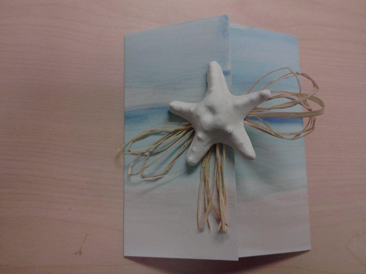 I made these. Leslie and Chris Handmade Beach Wedding Invites | Card ...