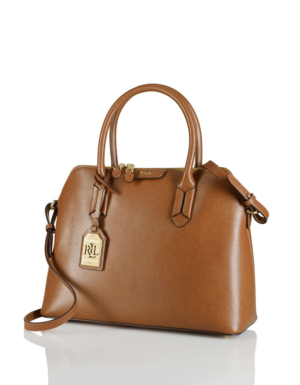 Leather Dome Satchel | Lord and Taylor