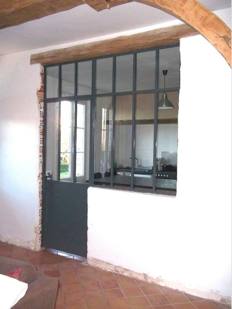 Cloison Type Atelier Renovation Vieille Maison Cuisine Verriere Cloison