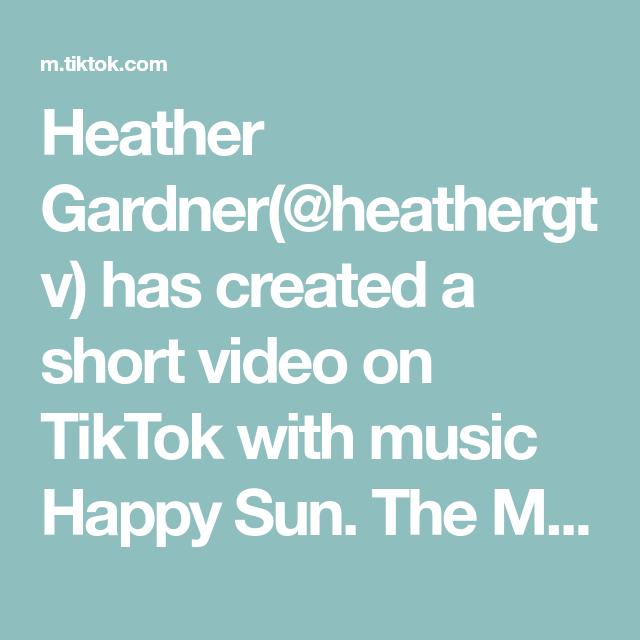 Heather Gardner Heathergtv Has Created A Short Video On Tiktok With Music Happy Sun The Mean Orange Man Book Is Avai Music Happy Griffen Dancing In The Dark
