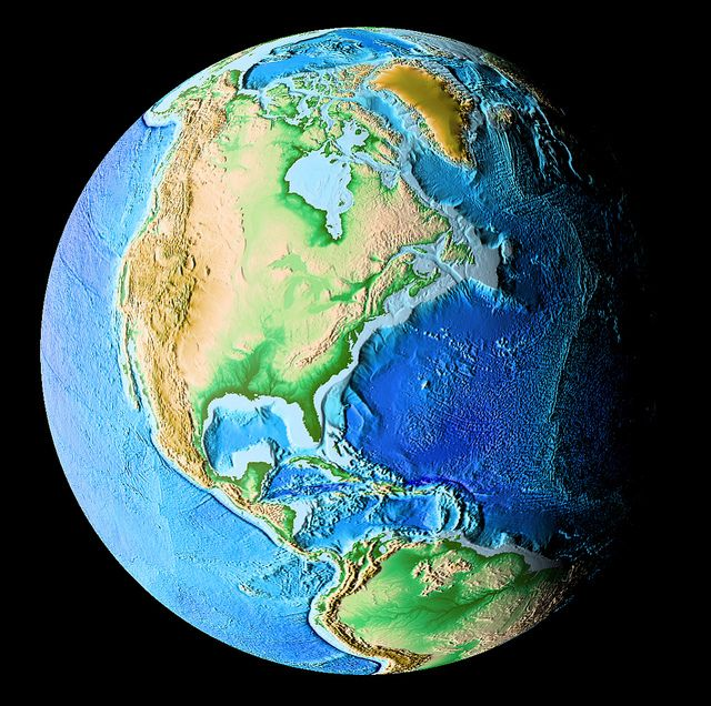 Earth digital elevation model newdiscoveriesearth pinterest earth digital elevation model by kevin m gill digital elevation model rendered using the gebco08 bathymetric dataset in a spherical projection gumiabroncs Gallery