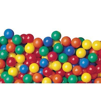Pack of 100 pcs Crush-Proof Phthalate Free non-PVC Plastic Ball Pit Balls in 5 Colors Guaranteed Crush-Proof 3 Air-Filled