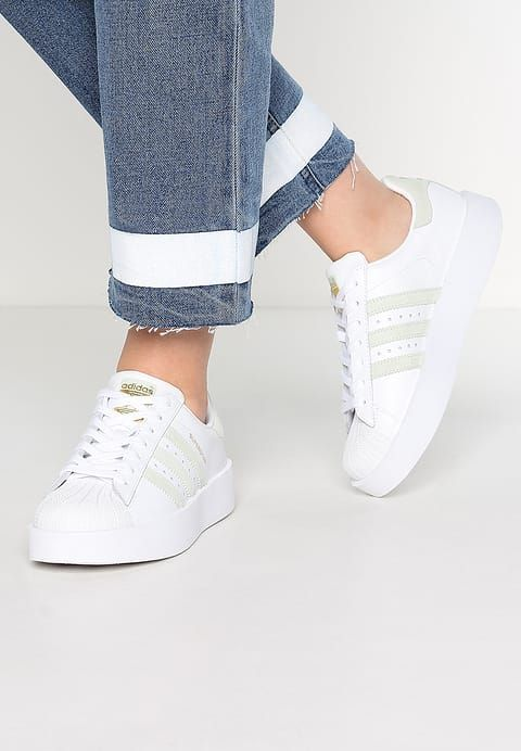adidas Originals SUPERSTAR BOLD - Sneakers laag - white ...